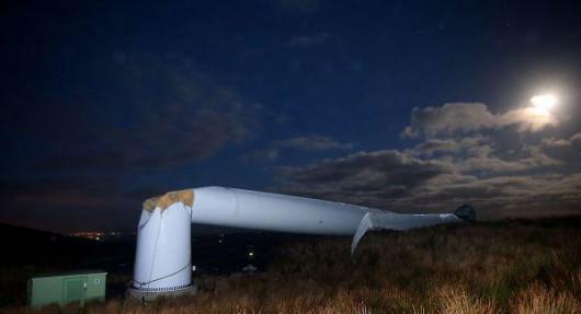 Tyrone, Irlandia - Runęła jedna z największych turbin wiatrowych 7