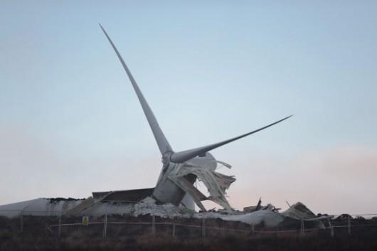Tyrone, Irlandia - Runęła jedna z największych turbin wiatrowych 8