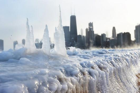 USA - Śnieżyce w Chicago 1