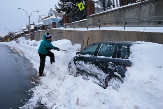 USA - Śnieg w Massachusetts