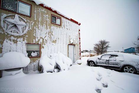 USA - Śnieg w Teksasie