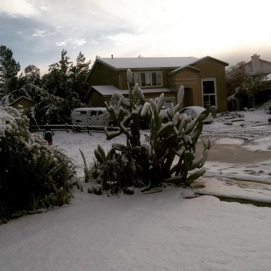 USA - Chłodny front znad Kanady przyniósł długo wyczekiwany śnieg w Kalifornii 3