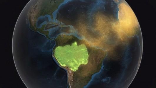 Co roku do Amazonii dociera prawie 30 mln ton pyłu znad Sahary 1