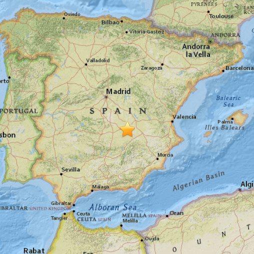 Hiszpania - Wstrząs sejsmiczny o sile 5.2, odczuwalne w Madrycie