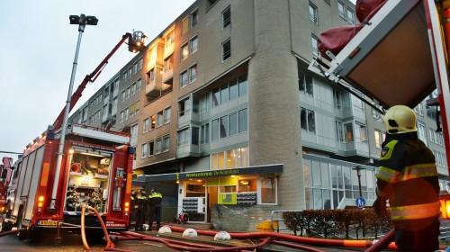 Holandia - Pożar apartamentowca w Nijmegen 1
