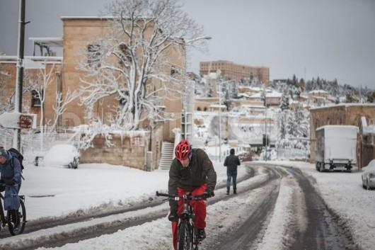 Izrael - Jerozolima pod wyjątkowo grubą warstwą śniegu 11