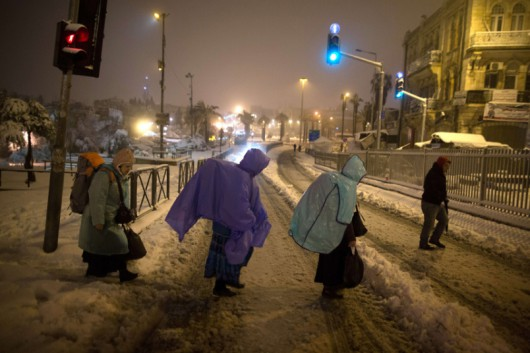 Izrael - Jerozolima pod wyjątkowo grubą warstwą śniegu 12