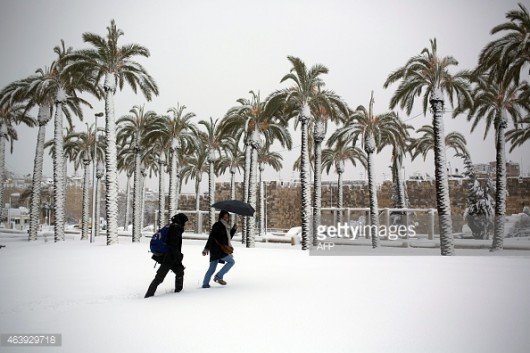 Izrael - Jerozolima pod wyjątkowo grubą warstwą śniegu 13