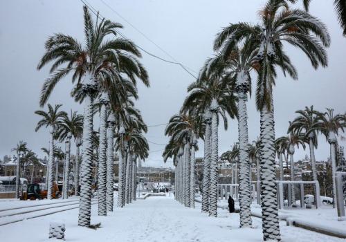 Izrael - Jerozolima pod wyjątkowo grubą warstwą śniegu 14