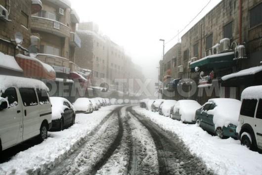 Izrael - Jerozolima pod wyjątkowo grubą warstwą śniegu 16