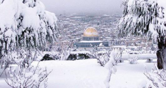 Izrael - Jerozolima pod wyjątkowo grubą warstwą śniegu 17
