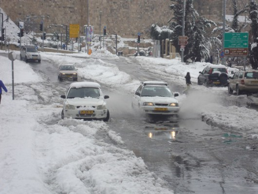 Izrael - Jerozolima pod wyjątkowo grubą warstwą śniegu 18