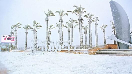 Izrael - Jerozolima pod wyjątkowo grubą warstwą śniegu 19