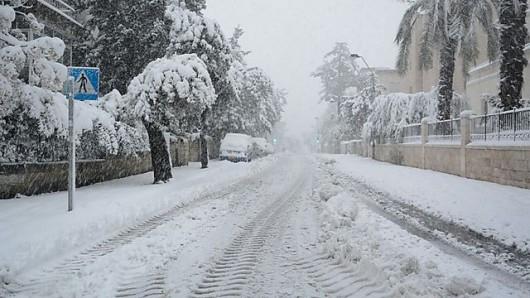 Izrael - Jerozolima pod wyjątkowo grubą warstwą śniegu 4