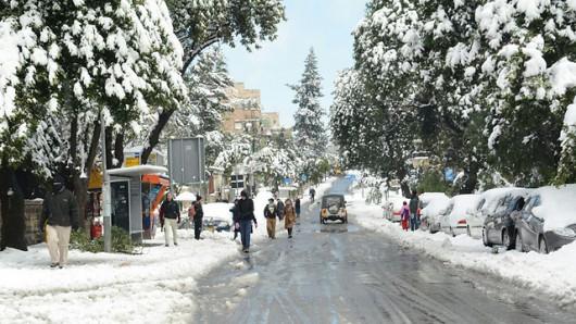 Izrael - Jerozolima pod wyjątkowo grubą warstwą śniegu 6