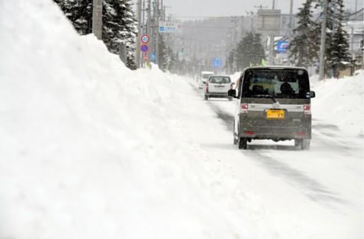 Japonia - Śnieg zasypał wyspę Hokkaido, spadły prawie 2 metry białego puchu 4