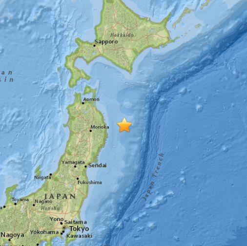 Japonia - Trzęsienie ziemi o magnitudzie 6.7