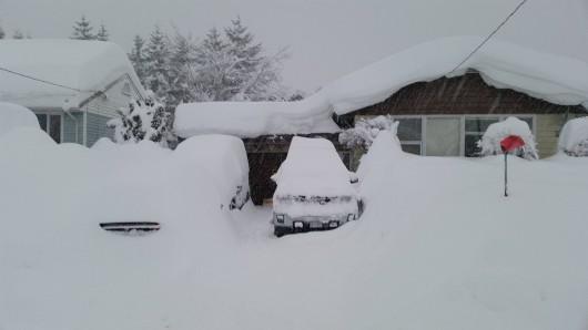 Kanada - Śnieg po dachy domów 7