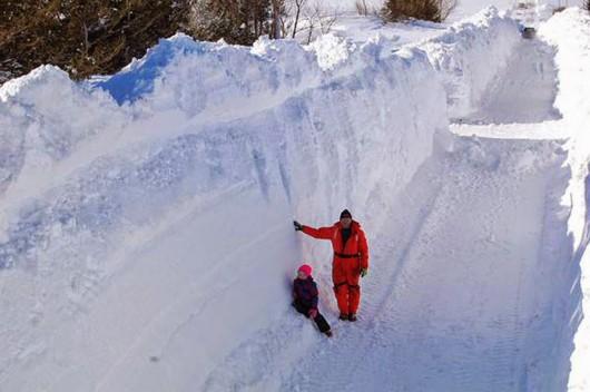 Kanada - Ogromne ilości śniegu na Wyspie Księcia Edwarda 1