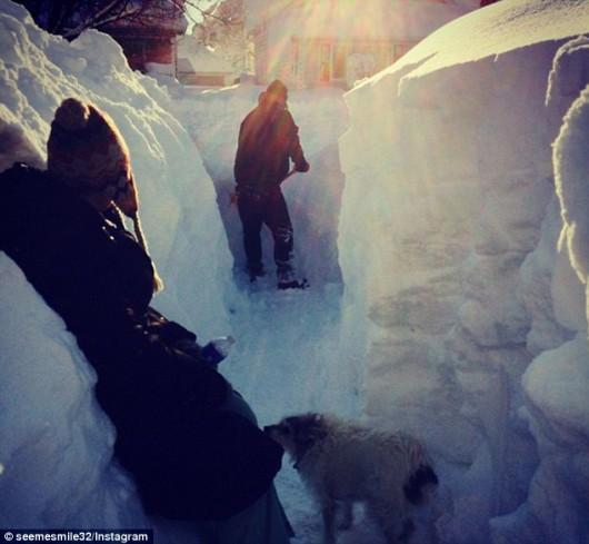 Kanada - Ogromne ilości śniegu na Wyspie Księcia Edwarda 7