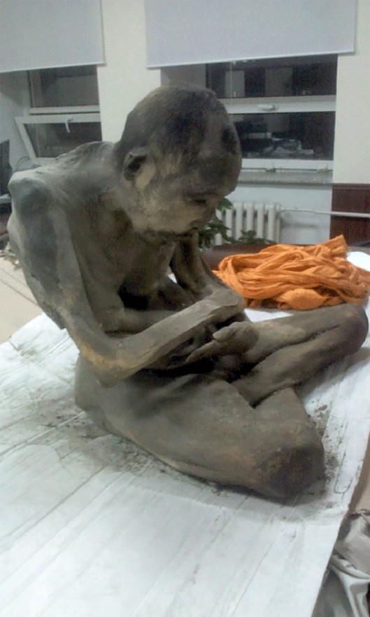 Medytujący mnich znaleziony w Mongolii