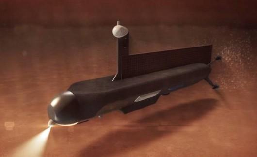 NASA planuje po 2040 roku wysłać mały okręt podwodny z napędem atomowym na Tytan, księżyc Saturna 1