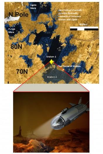 NASA planuje po 2040 roku wysłać mały okręt podwodny z napędem atomowym na Tytan, księżyc Saturna 2