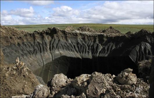 Syberia, Rosja - Oprócz czterech ogromnych kraterów, pojawiło się 20 mniejszych 1