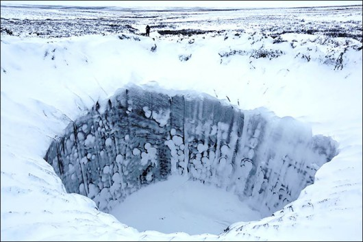Syberia, Rosja - Oprócz czterech ogromnych kraterów, pojawiło się 20 mniejszych 10