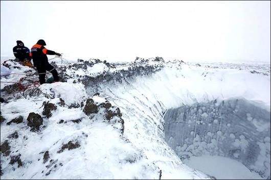 Syberia, Rosja - Oprócz czterech ogromnych kraterów, pojawiło się 20 mniejszych 11