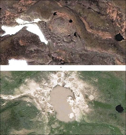 Syberia, Rosja - Oprócz czterech ogromnych kraterów, pojawiło się 20 mniejszych 3