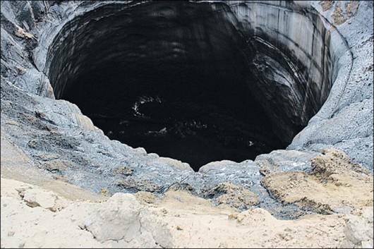 Syberia, Rosja - Oprócz czterech ogromnych kraterów, pojawiło się 20 mniejszych 6