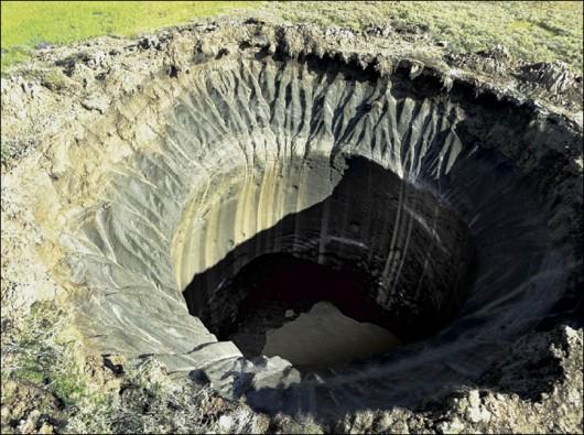 Syberia, Rosja - Oprócz czterech ogromnych kraterów, pojawiło się 20 mniejszych 8