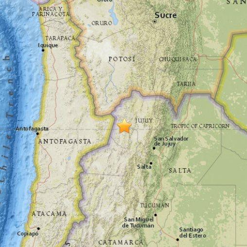 Trzęsienie ziemi Argentyna