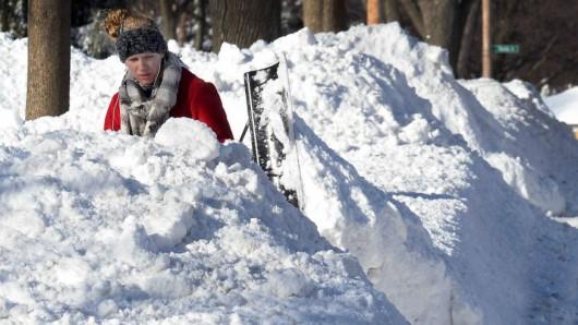 USA - Śnieg sypie w Chicago 2