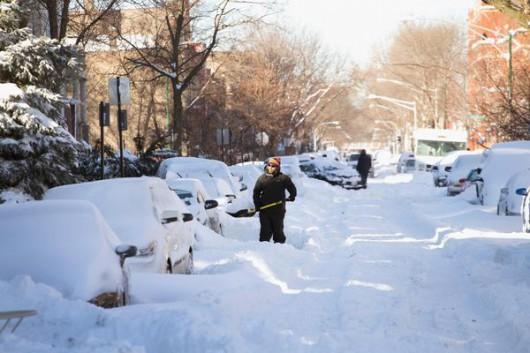 USA - Śnieg sypie w Chicago 4