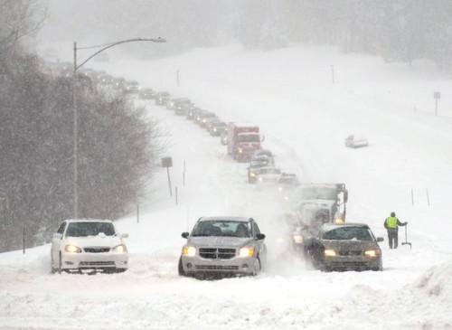 USA - Tego jeszcze nie było, szósta śnieżyca w niecały miesiąc 3