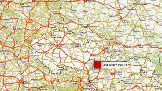 Uhersky Brod leży 300 km od Pragi