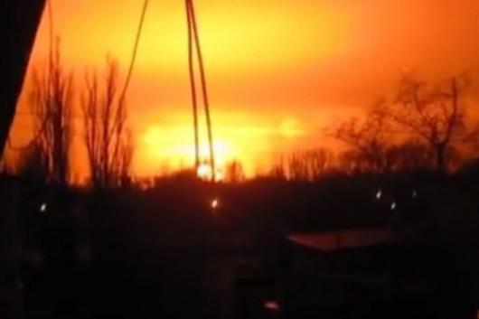Ukraina - Ogromna eksplozja w zakładach chemicznych w Doniecku