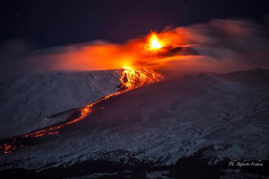 Włochy - Erupcja wulkanu Etna 6