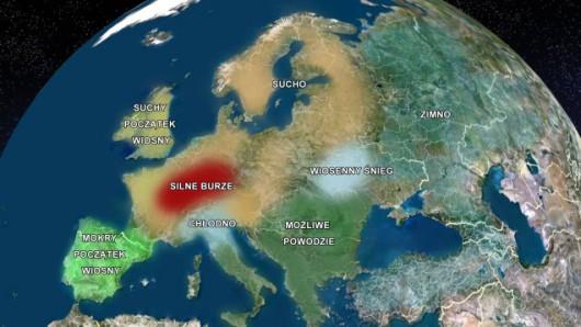 Wiosna w Europie ma być wyjątkowo burzowa