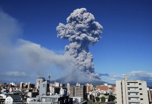 Wulkan Sakurajima - Japonia