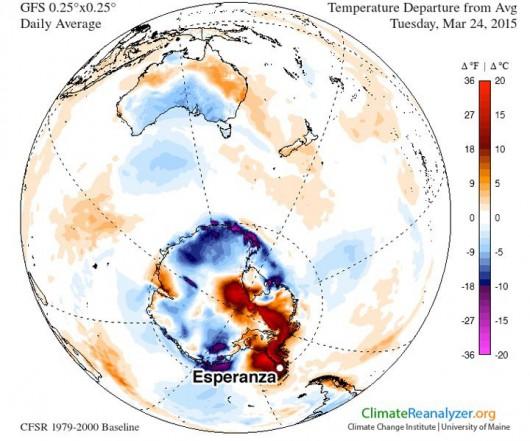 Antarktyda - Stacji Esperanza i rekord temperatury