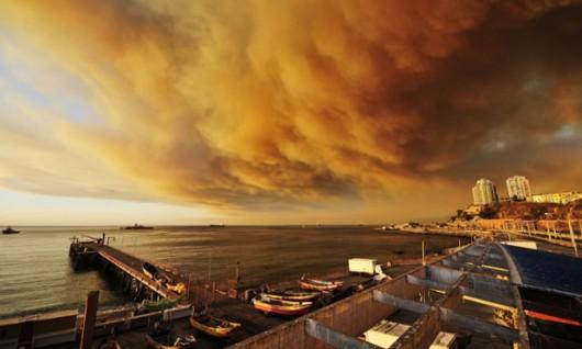 Chile - Ogromny pożar w Valparaiso 2