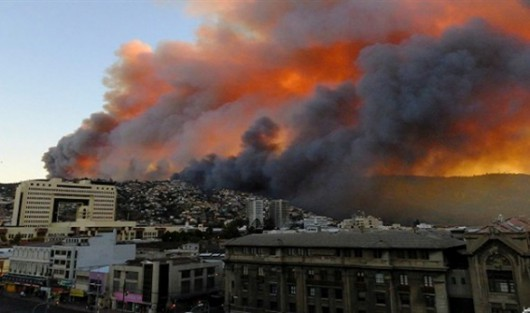 Chile - Ogromny pożar w Valparaiso 3