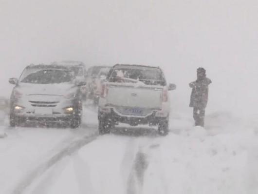 Chiny - Burza śnieżna w Tybecie