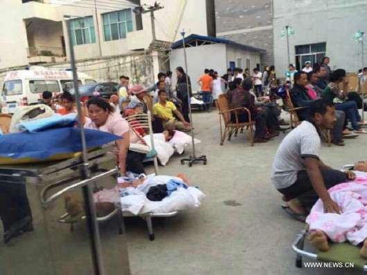 Chiny - Trzęsienie ziemi o silne 5.5 w prowincji Junnan