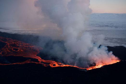 Islandia - Geolodzy weszli do krateru Baugur 5
