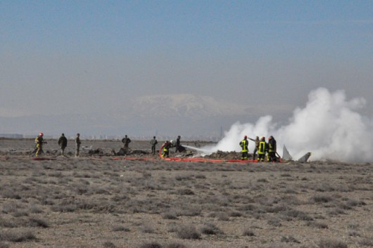 Military aircraft crashes in central Turkey's Konya province
