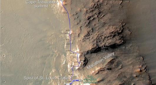 Mars -  Łazik Opportunity pokonał dystans 42 kilometrów 1